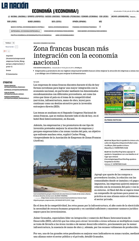 Zona francas buscan más integración con la economía nacional